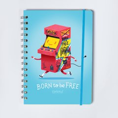 cuaderno argollado born to be free