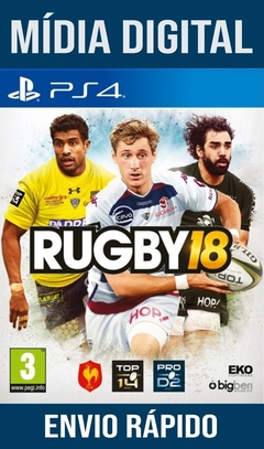 Rugby 18 Ps4 Psn Original 1 Mídia Digital