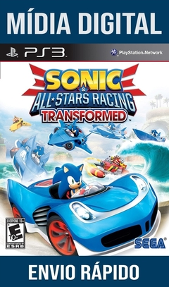 Sonic All-Stars Racing Transformed Psn Ps3 Mídia Digital