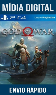 God Of War 4 Ps4 Psn Original 1 Mídia Digital (Dub Br)