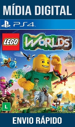 Lego Worlds Ps4 Psn Original 1 Mídia Digital