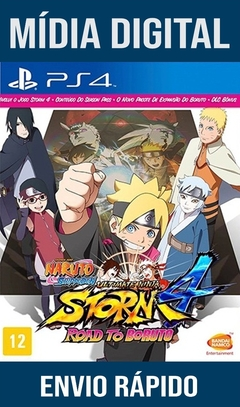 Naruto Shippuden Ultimate Ninja Storm 4 Road To Boruto Ps4 Psn Mídia Digital Original 1 (Dub Br)