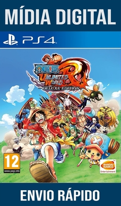 ONE PIECE UNLIMITED WORLD RED Deluxe Edition Ps4 Psn Original 1 Mídia Digital