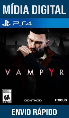 VAMPYR PS4 PSN ORIGINAL 1 MÍDIA DIGITAL (DUB BR)