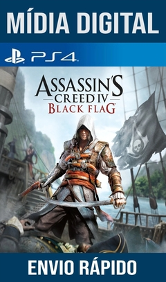 Assassins Creed 4 Black Flag Psn Ps4 Original 1 Mídia Digital (Dub Br)