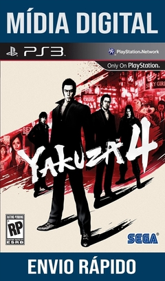 YAKUZA 4 PS3 PSN MÍDIA DIGITAL