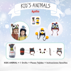 "KIT Gorro Búho de Katia - ""Kid's Animals"""