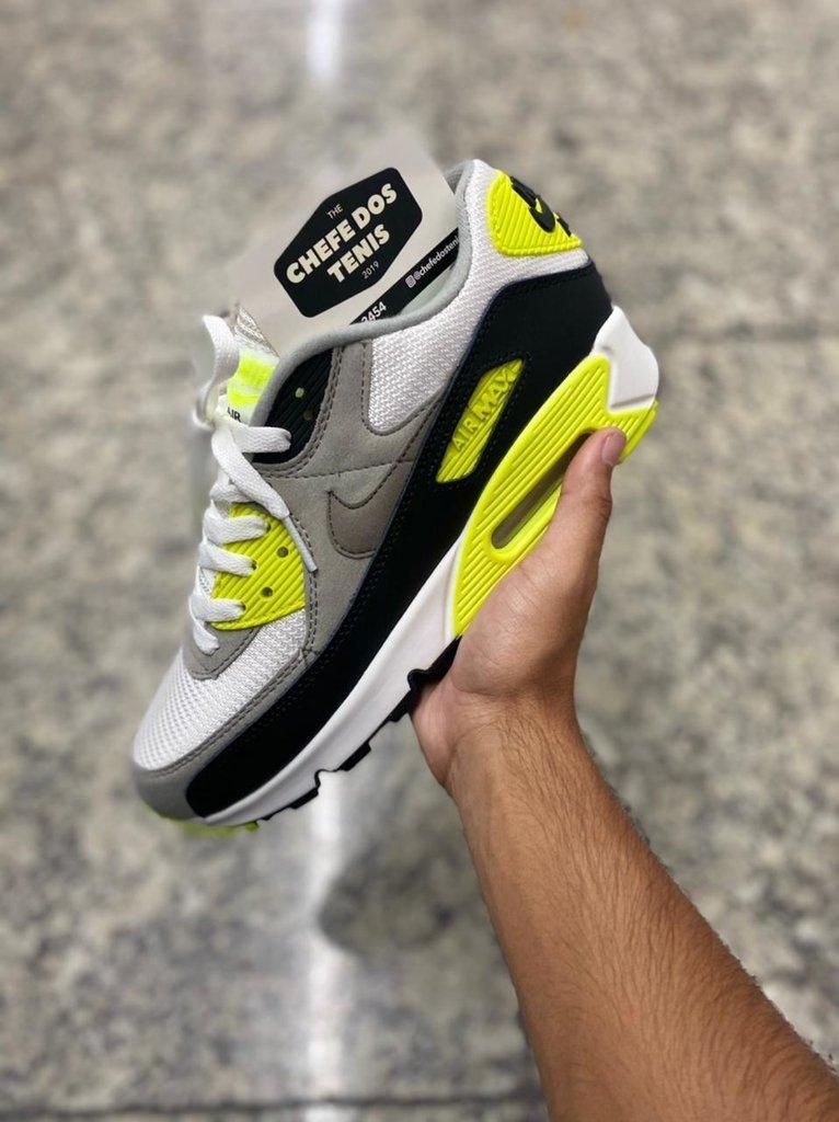 Tênis Nike Air Max 90 Masculino Cinza e Verde