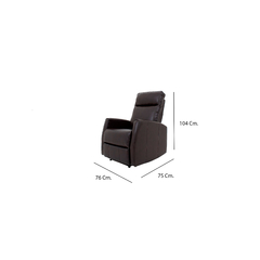 Reclinable chocolate manual - Ganza Muebles