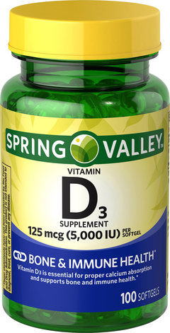 Vitamina D3 (5,000IU)- 100 softgel