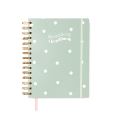 caderno A5 sketchbook menta dots