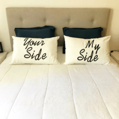 SET X 2 ALMOHADON BONJOUR - BONSOUR / MY SIDE - YOUR SIDE - comprar online