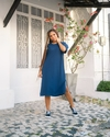 MAXI T-SHIRT DRESS AZUL MARINHO