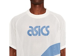 JERSEY ASICS SPORTS MOMENTS - BEGE/AZUL na internet