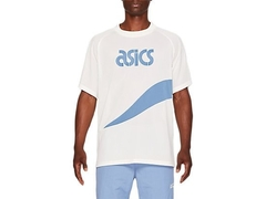 JERSEY ASICS SPORTS MOMENTS - BEGE/AZUL