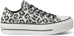 Tênis Converse Chuck Taylor All Star Animal Print Plataforma Lift Bege Amendoa
