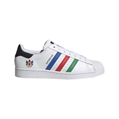 TÊNIS ADIDAS SUPERSTAR 3D TREFOIL 3-STRIPES LOGO - BRANCO
