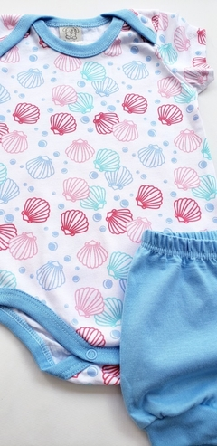 Pijama Curto Seashells. na internet