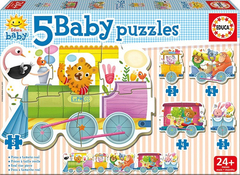 5 Baby Puzzles Trencito