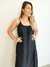 Vestido Sleep Dress Renda Midi Preto - Nah Macedo Boutique