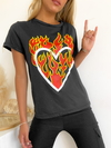 Remera estampada Corazon Fuego