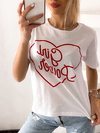 Remera jersey desagujado (con roturas) Girl Power