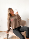 Sweater ancho beso bordado Murray - BENKA