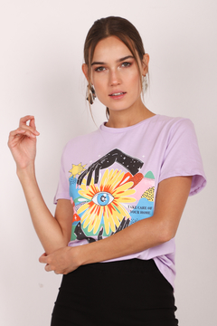 Remera estampada Visualize life - comprar online