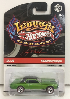 HOT WHELLS 1:64 SERIE HOT WHELLS GARAGE /  MERCURY COUGER 68 ( PNEUS DE BORRACHA) *13/20