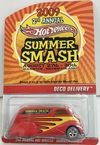 HOT WHELLS  CONVEÇÃO  1:64 DECO DELIVERY   2° ENCONTRO ANUAL DE HOT WHELLS SUMMER SMASH 2009     PNEU DE BORRACHA