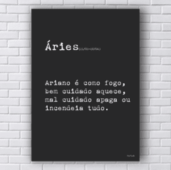 Placa frase SIGNO ÁRIES