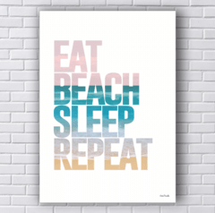 Placa praia eat beach sleep repeat