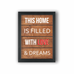 Quadro HOME WITH LOVE & DREAMS