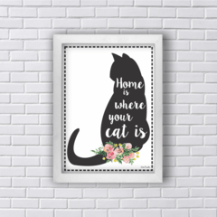 Quadro HOME IS WHERE YOUR CAT IS