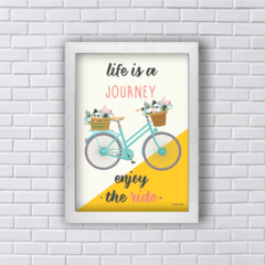 Quadro Life is a journey bicicleta