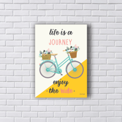 Placa Life is a journey bicicleta