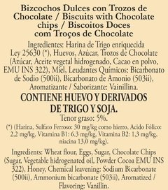 Biscuits con Chips de Chocolate 20 Paquetes de 100G c/u