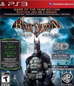 BATMAN ARKHAM ASYLUM GAME OF THE YEAR EDITION GOTY PS3