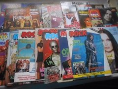 Revistas Rock Brigade Comando Metal Head Top Rock Lote C/ 15