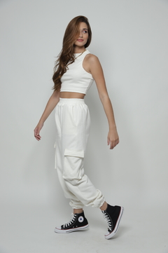 Cropped Lisa - Off white - loja online