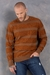 Blusa masculina tricot caramelo listras