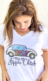 Remera escote V Hippie Chick (Outlet)