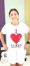 Camison I love sleep blanco