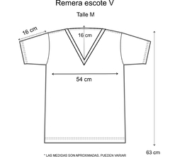 Remera escote V Rainbow en internet