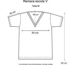 Remera escote V Corazón ojo amor (Outlet) en internet