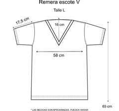 Remera escote V Be free - Pura alegría