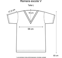 Remera escote V Perfectly imperfect dorada (Outlet) - Pura alegría
