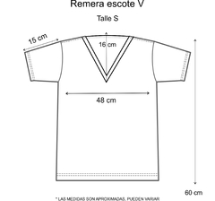 Remera escote V Enjoy the ride - comprar online