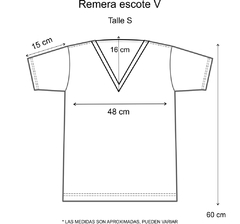 Remera escote V Perfectly imperfect dorada (Outlet) - comprar online