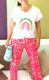 SOLO Pantalón pijama largo -  Follow the rainbow